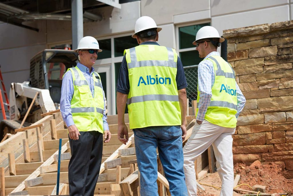 Albion team on-site
