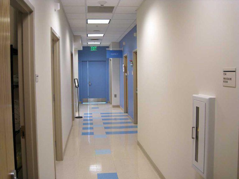 Georgia Tech Whitehead Health Services building hallway