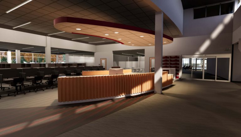 Front Desk Rendering by GSST
